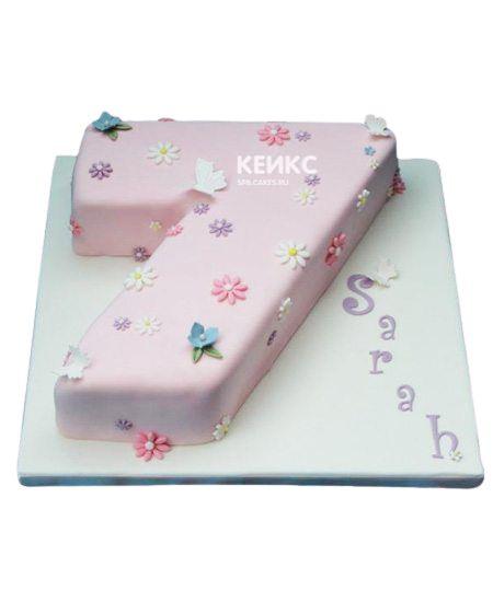 Торт с цифрой 7 для девочки