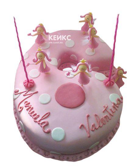 Торт с цифрой 6 для девочки 1