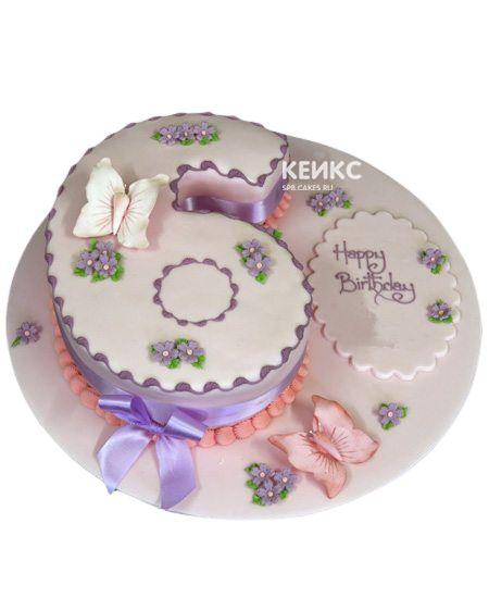 Торт с цифрой 6 для девочки 2