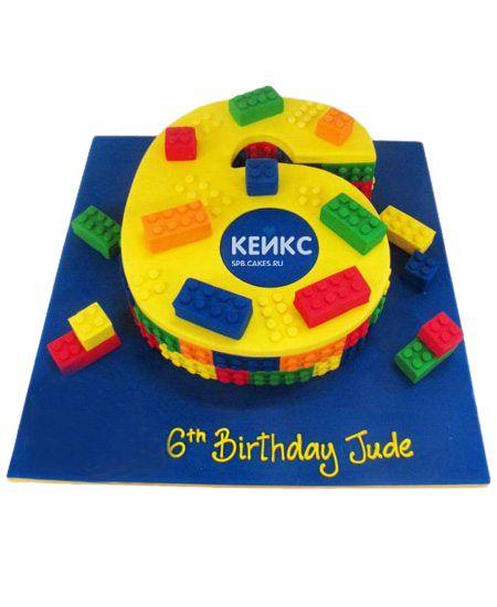 Торт с цифрой 6 для мальчика 3