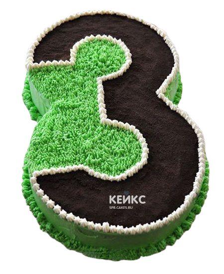 Торт с цифрой 3 для мальчика 7