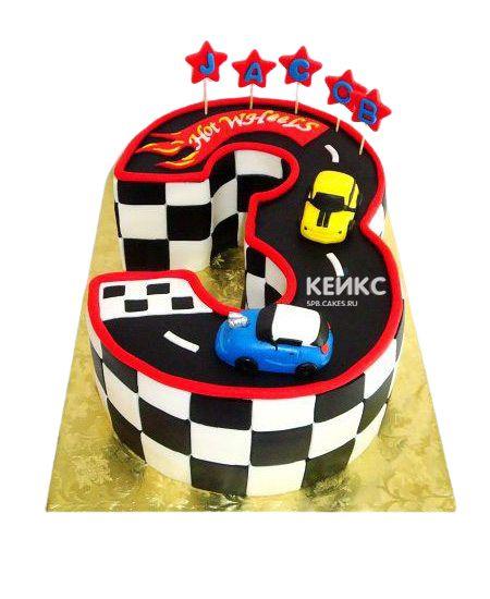 Торт с цифрой 3 для мальчика 9