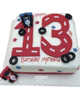 Торт с цифрой 13 для мальчика