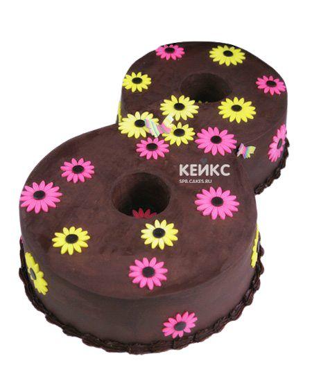 Торт с цифрой 8 для девочки 3