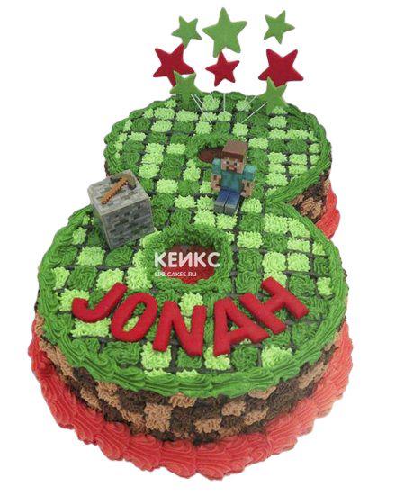 Торт c цифрой 8 для мальчика 3