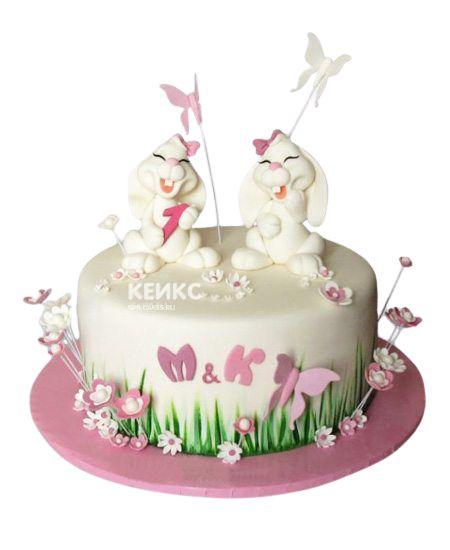 Торт для двойняшек Девочке 1