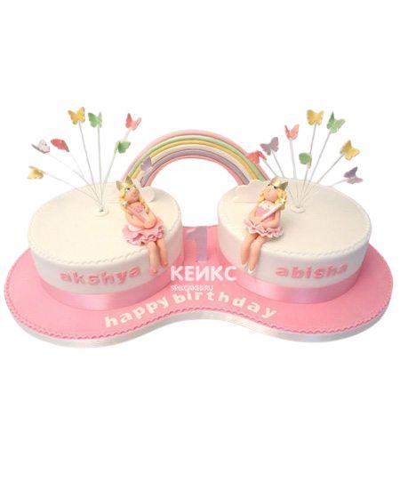 Торт для двойняшек Девочке 2
