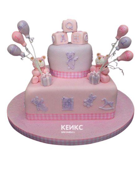 Торт для двойняшек Девочке 3