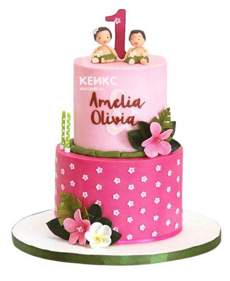 Торт для двойняшек Девочке 5