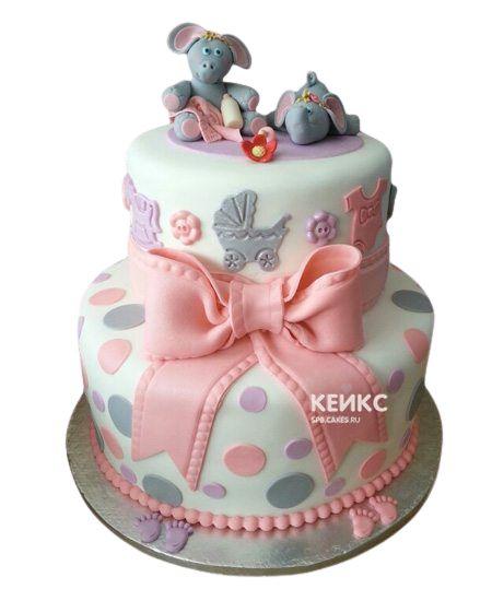 Торт для двойняшек Девочке 6
