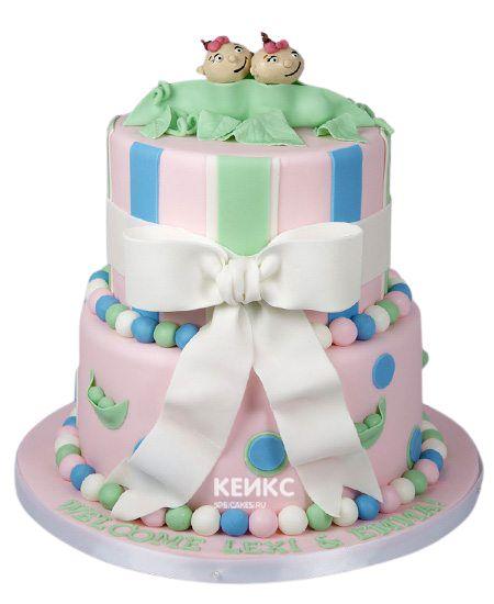 Торт для двойняшек Девочке 8