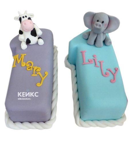 Торт для двойняшек Девочке 9