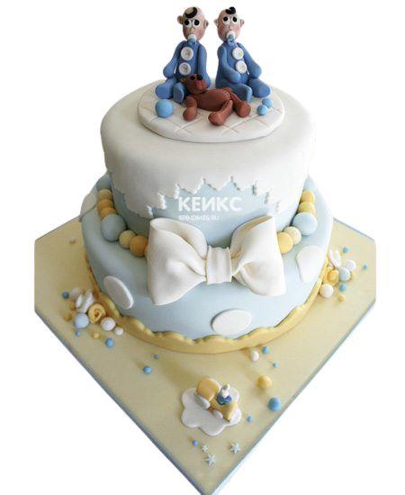 Торт для двойняшек Мальчику 1