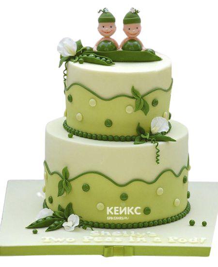 Торт для двойняшек Мальчику 4