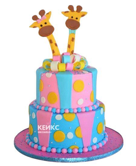Торт для двойняшек Мальчику и Девочке 2