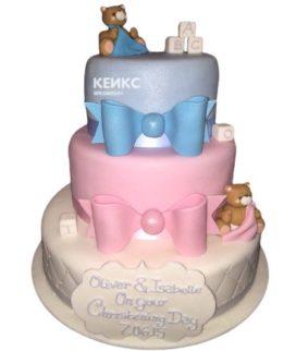 Торт для двойняшек на годик 1