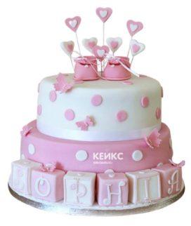 Торт для двойняшек на годик