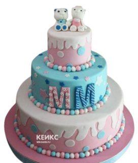 Торт для двойняшек на годик 2