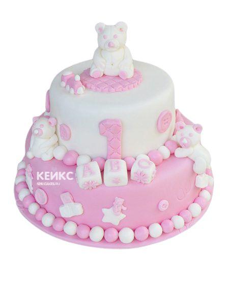 Торт для двойняшек на годик 3
