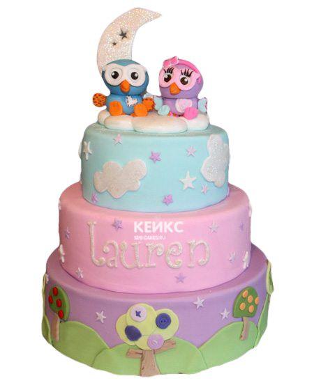 Торт для двойняшек на годик 4