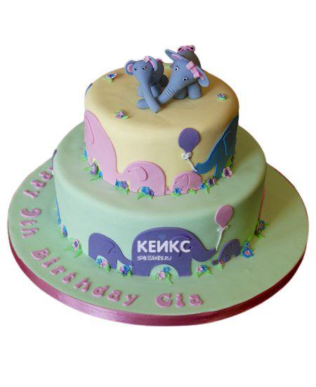 Торт для двойняшек на годик 9