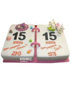 Торт для двух именинников 1