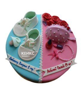 Торт для двух именинников 10
