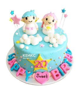 Торт для двух именинников 15