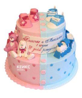 Торт для двух именинников 19