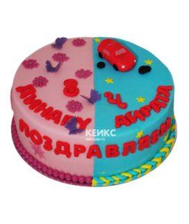 Торт для двух именинников 2