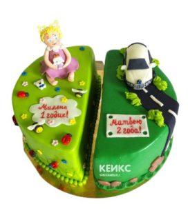 Торт для двух именинников 4