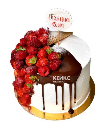 Торт Ягодный для девочки 14
