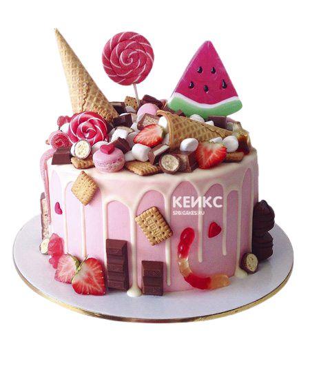Торт Ягодный для девочки 5