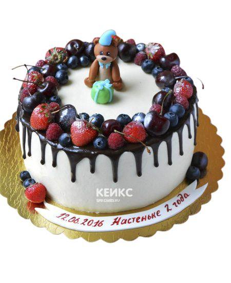 Торт Ягодный для девочки 7