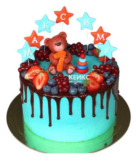 Торт Ягодный для мальчика 11