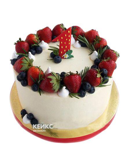 Торт Ягодный на годик 1