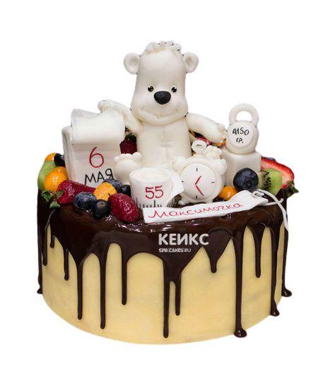 Торт Ягодный на годик 7