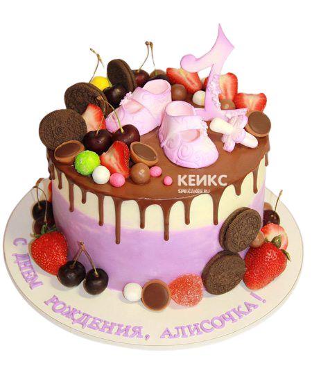 Торт Ягодный на годик 9