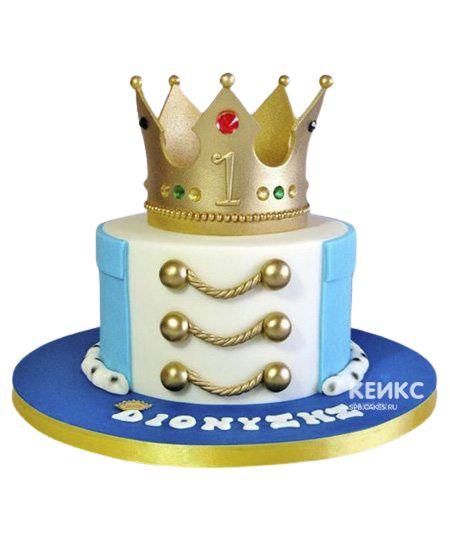 Торт Корона для мальчика 2