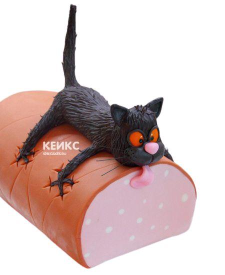 Торт Кот на колбасе 7