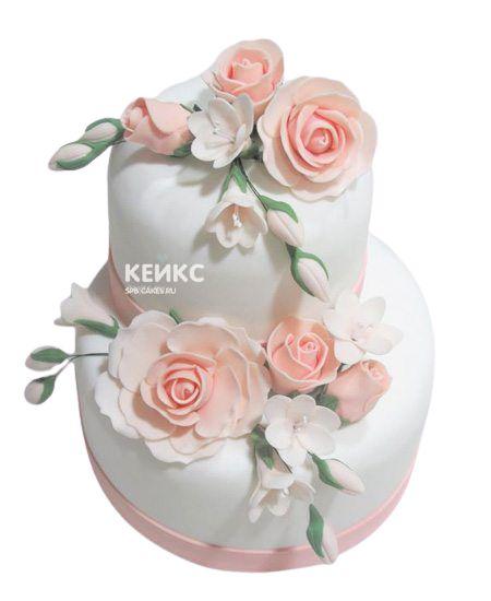 Торт с цветами для девочки 1