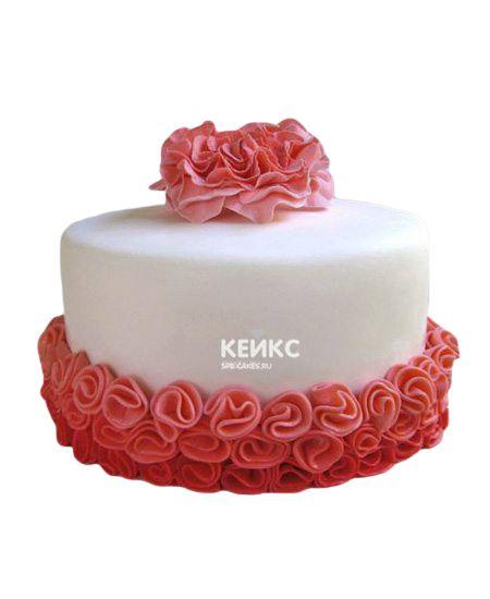 Торт с цветами для девочки 10