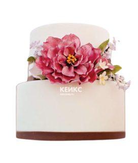 Торт с цветами для девочки 14