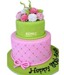 Торт с цветами для девочки 15