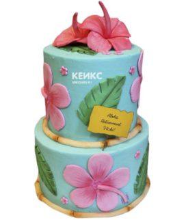 Торт с цветами для девочки 17