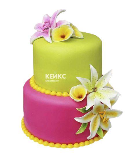 Торт с цветами для девочки 21