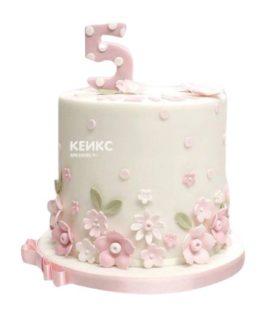 Торт с цветами для девочки 23