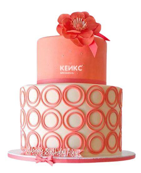 Торт с цветами для девочки 24