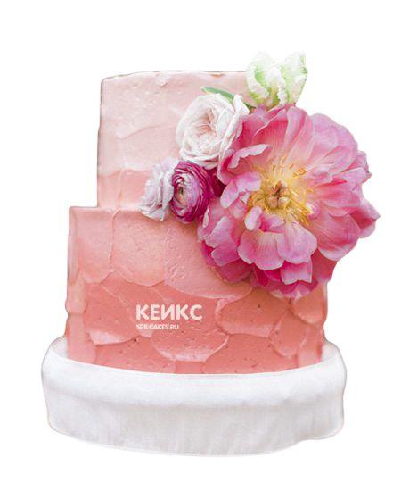 Торт с цветами для девочки 25