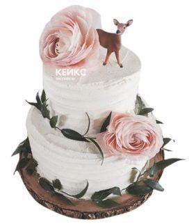 Торт с цветами для девочки 3